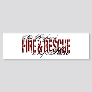 Boyfriend My Hero - Fire & Rescue Bumper Sticker