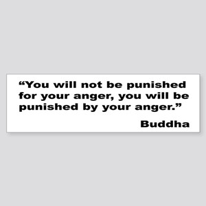 Buddha Anger Quote Bumper Sticker
