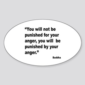 Buddha Anger Quote Oval Sticker