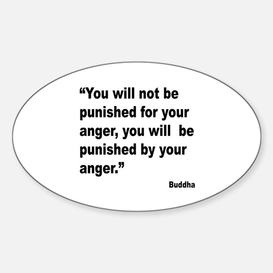 Buddha Anger Quote Oval Decal