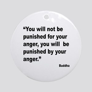 Buddha Anger Quote Ornament (Round)