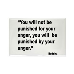 Buddha Anger Quote Rectangle Magnet