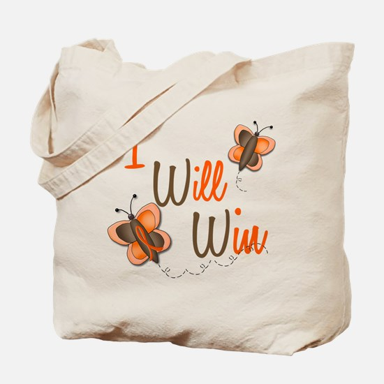 I Will Win 1 Butterfly 2 ORANGE Tote Bag