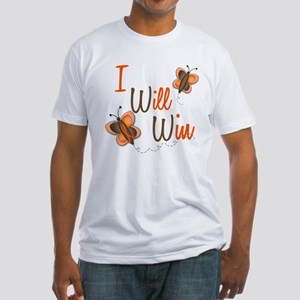 I Will Win 1 Butterfly 2 ORANGE Fitted T-Shirt