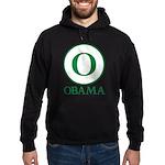 Green O Obama Hoodie (dark)