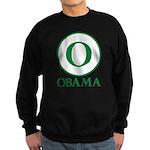 Green O Obama Sweatshirt (dark)