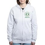 Green O Obama Women's Zip Hoodie