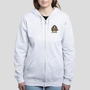 I Love Latkes Penguin Women's Zip Hoodie