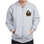 Golf Penguin Zip Hoodie
