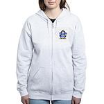 Blue Football Penguin Women's Zip Hoodie