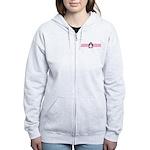 Pink Ribbon Penguin Women's Zip Hoodie