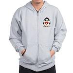 Heart tux Penguin Zip Hoodie