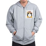 Sunflower Hat Clay Penguin Zip Hoodie