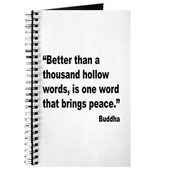 Buddha Peace Quote Journal