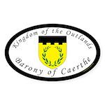 Caerthe Oval Sticker (10 pk)