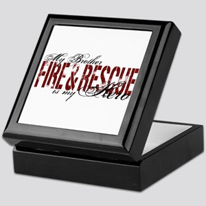Brother My Hero - Fire & Rescue Keepsake Box