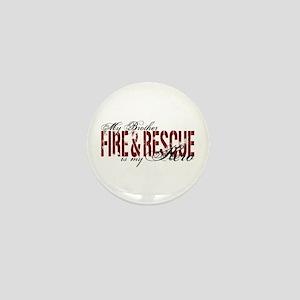 Brother My Hero - Fire & Rescue Mini Button