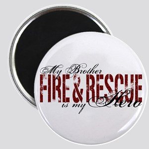 Brother My Hero - Fire & Rescue Magnet