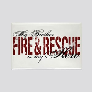 Brother My Hero - Fire & Rescue Rectangle Magnet