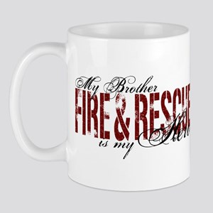 Brother My Hero - Fire & Rescue Mug