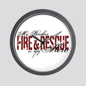 Brother My Hero - Fire & Rescue Wall Clock