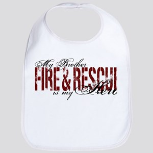 Brother My Hero - Fire & Rescue Bib