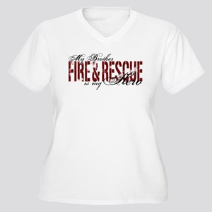 Brother My Hero - Fire & Rescue Women's Plus Size