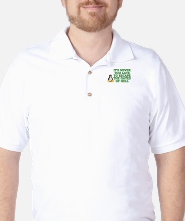 It's never too late Golf Shirt