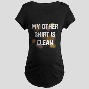 Dirty Shirt Maternity Dark T-Shirt