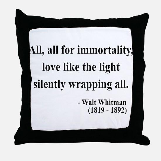Walt Whitman 22 Throw Pillow