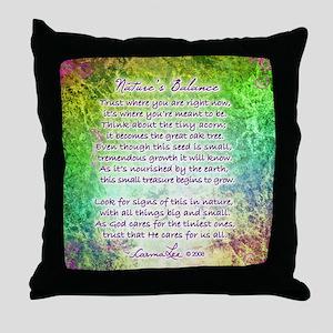 NATURE'S BALANCE POEM - Throw Pillow