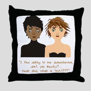 Dating Women Throw Pillow