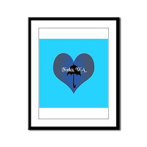 Twilights Forks, WA Love Framed Panel Print
