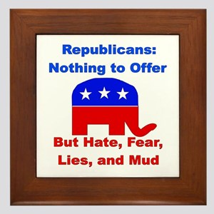 Anti-Republican Framed Tile