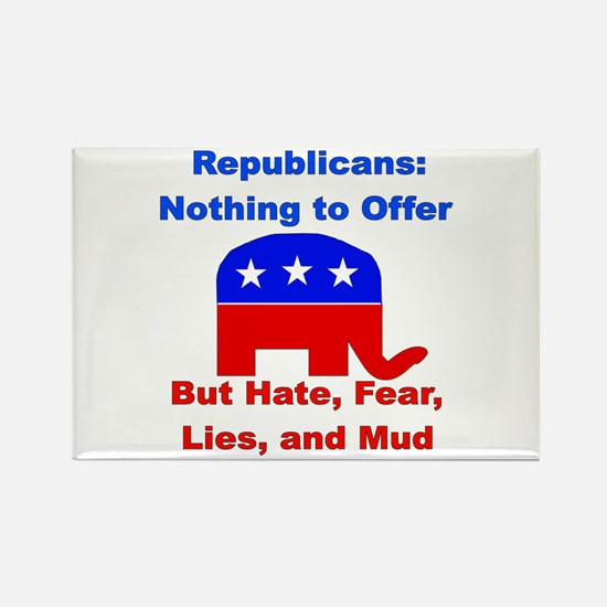 Anti-Republican Rectangle Magnet (100 pack)
