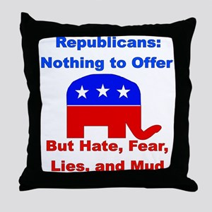 Anti-Republican Throw Pillow