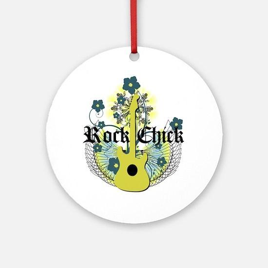 Rock Chick Ornament (Round)