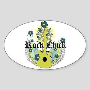 Rock Chick Oval Sticker