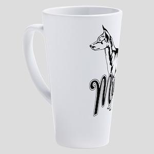 Basenji 17 oz Latte Mug