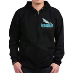 Dolphin Freedom Zip Hoodie (dark)