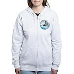 Bubble Dolphin Women's Zip Hoodie