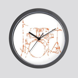 Drum Kit Drums Set Wall Clock