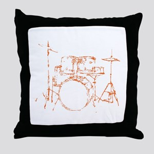 Drum Kit Drums Set Throw Pillow