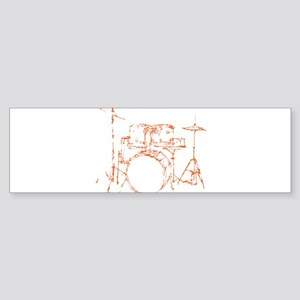 Drum Kit Drums Set Bumper Sticker