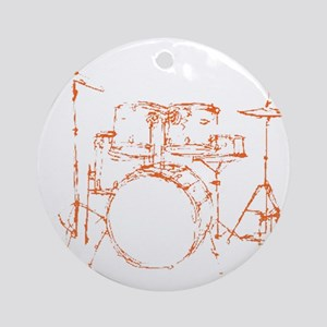 Drum Kit Drums Set Ornament (Round)