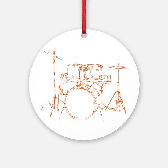 Drum Kit Drums Set Ornament (Round)