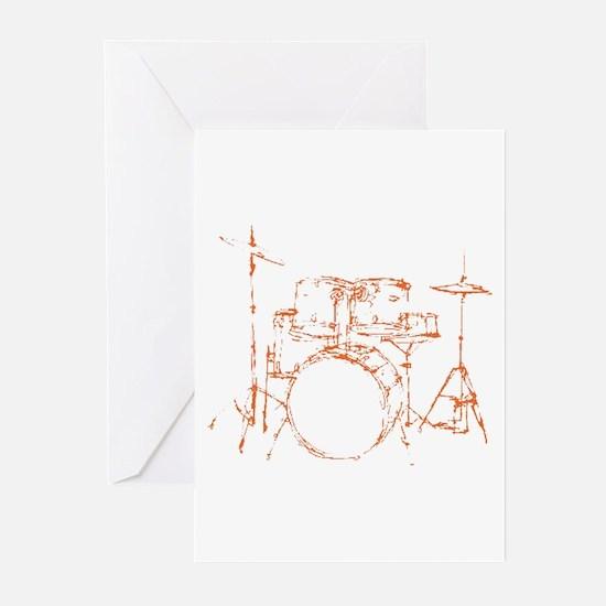 Drum Kit Drums Set Greeting Cards (Pk of 10)