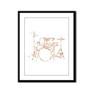 Drum Kit Drums Set Framed Panel Print