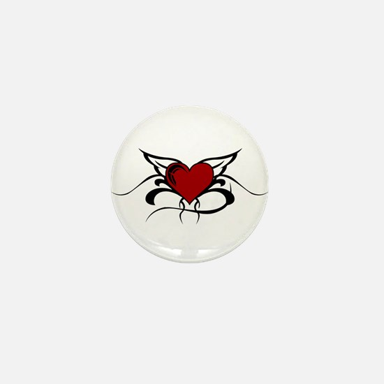 Winged Heart Mini Button