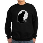 Basic Black Cat Sweatshirt (dark)